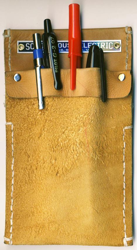 A Leather Pocket Protector   SIMON