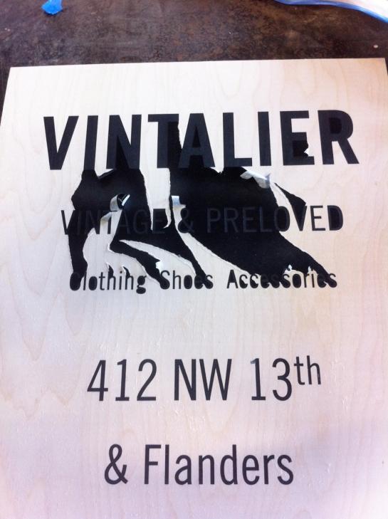 Vintalier a board sign - 3